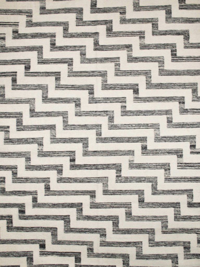 monochrome striped rug