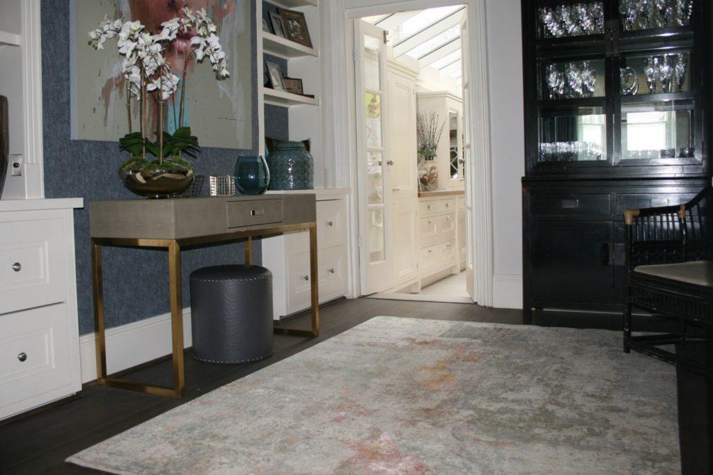 designer rug in home