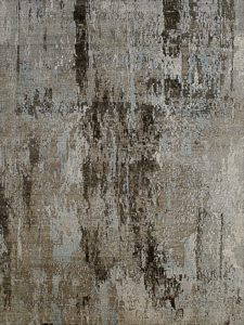 grey and blue abstract rug