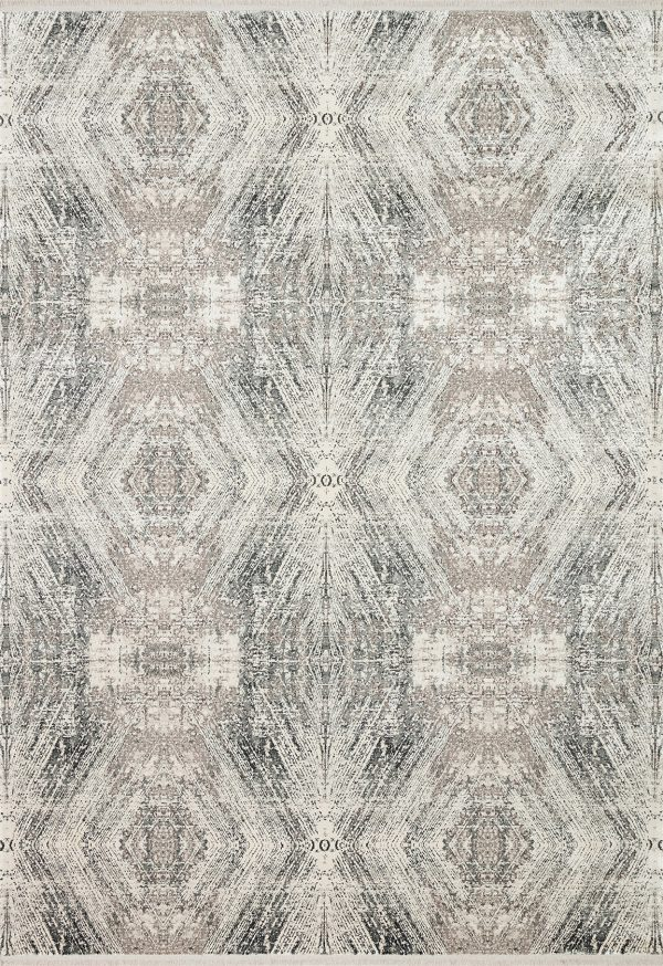 neutral modern rug with abstract design