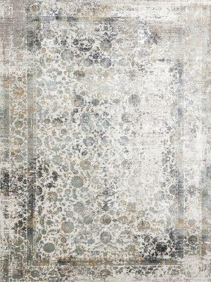 neutral modern rug with bamboo silk