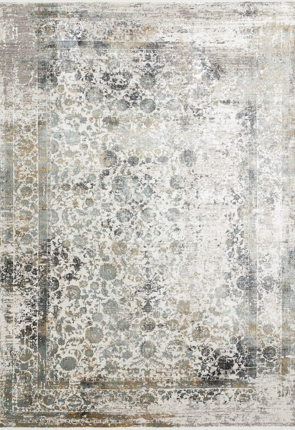 neutral modern rug with bamboo silk