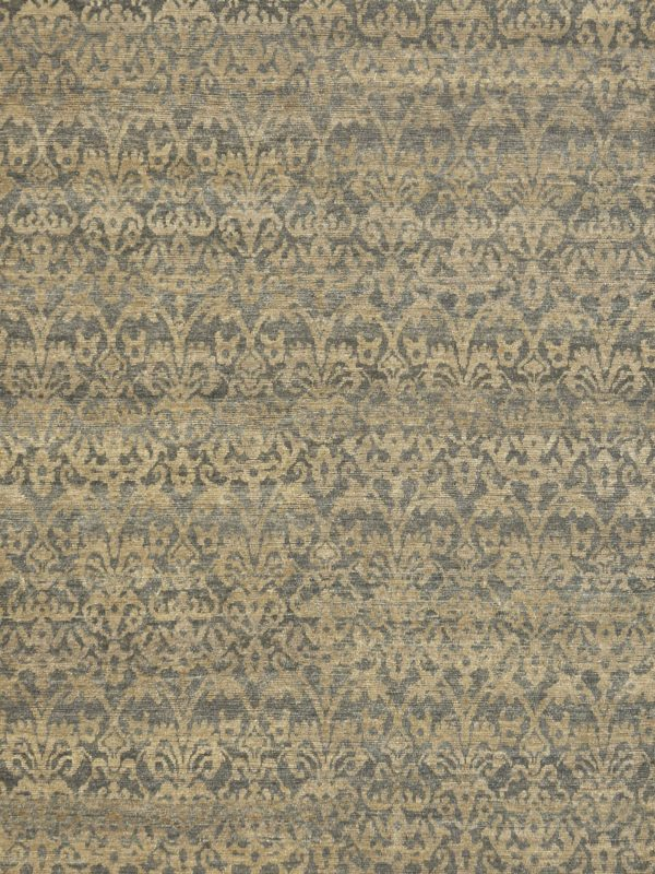 classic wool rug with blue green design