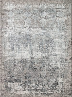 neutral modern rug in bamboo silk