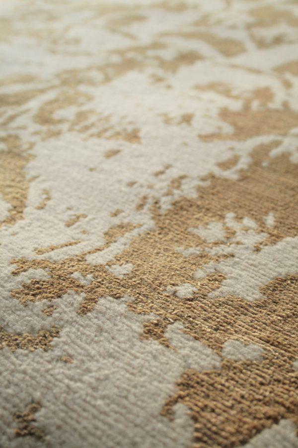 gold rug close up