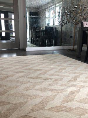 geometric handmade wool kelim