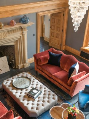 blur luxury rug in manor house by anne haimes interiors