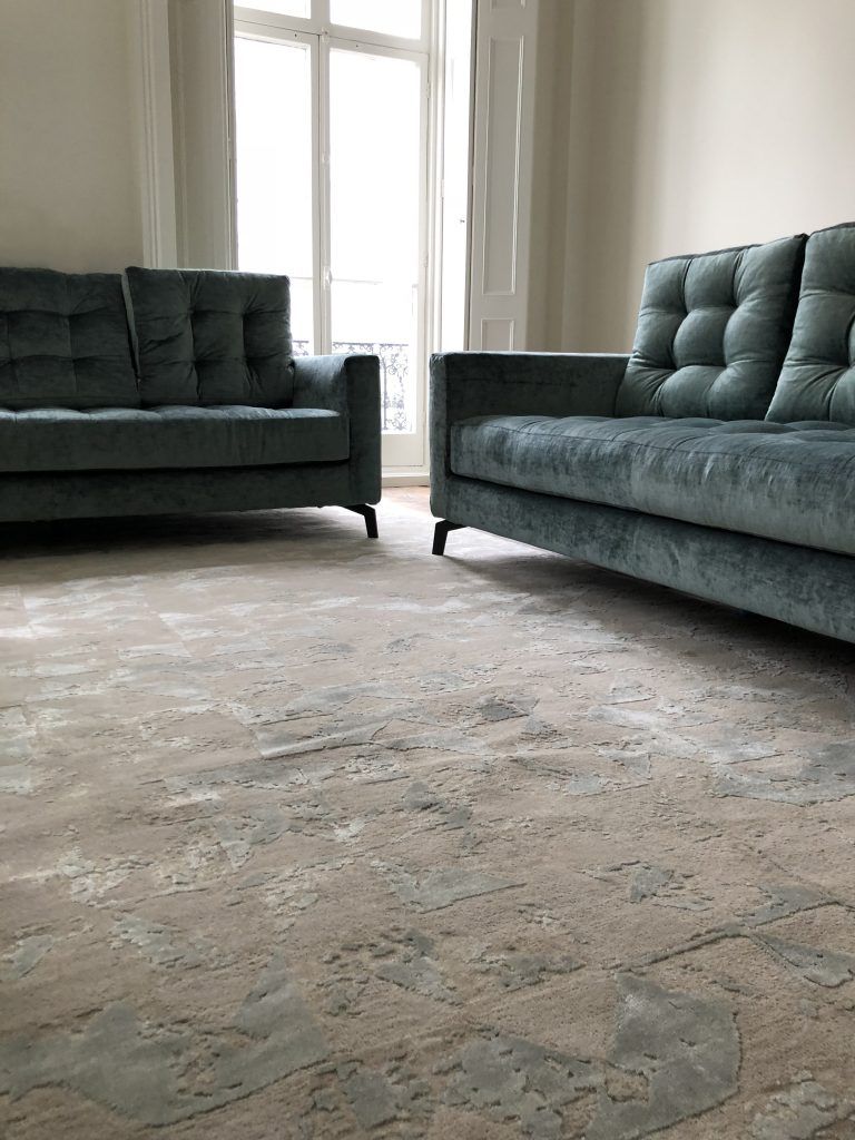 luxury rug in living room - Bohemia rug by Bazaar Velvet