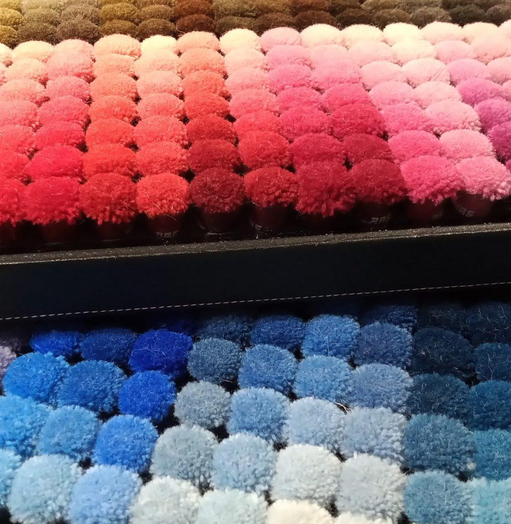 colour poms for custom rugs