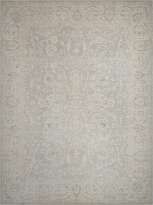 grey and beige transitional rug