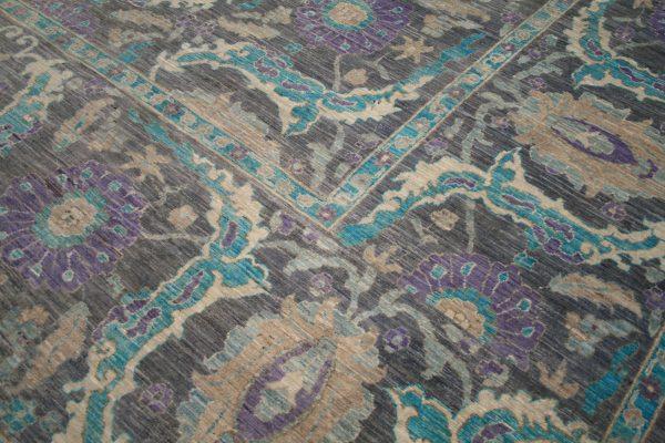 grey and purole large rug