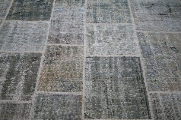 moss green patchwork rug