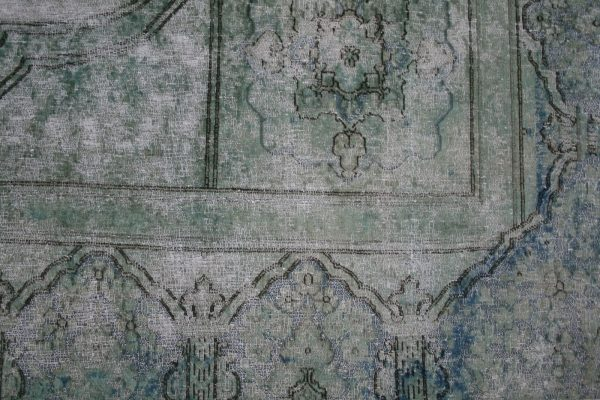 persian overdyed rug teal