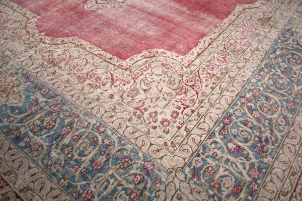 red and blue traditional rug