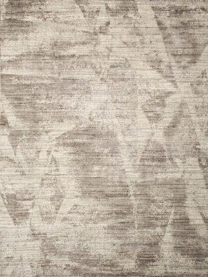 modern wool and bamboo silk rug