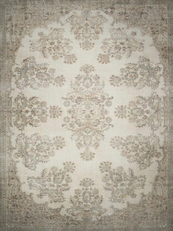 traditional rug faded