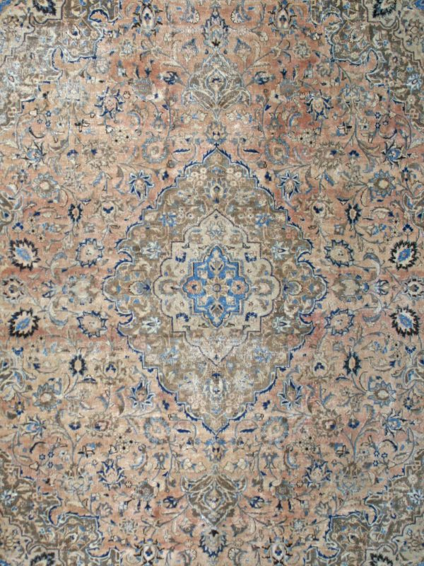 persian vintage rug blue and red
