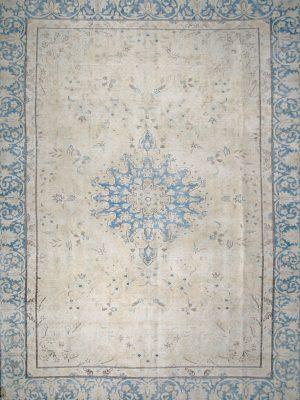 vintage rug faded