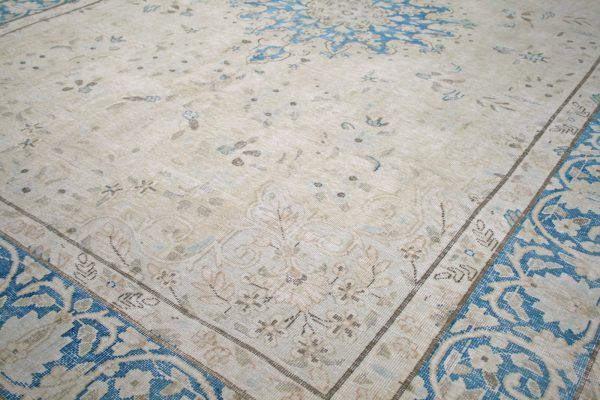persian rug blue and cream