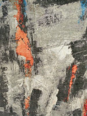 abstract rug with orange