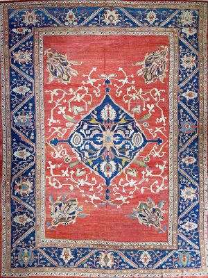 Ziegler-Antique-Rug-classic-red-and-blue rug