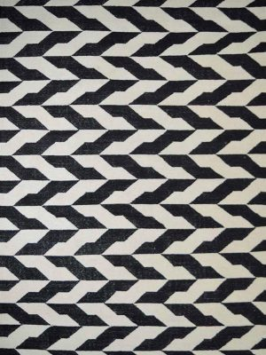 black and white modern geometric rug
