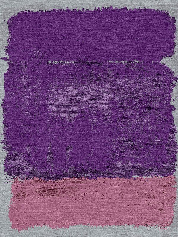 purple modern rug