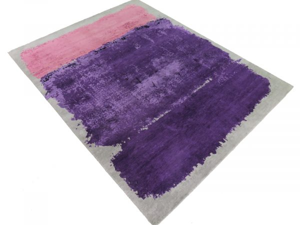 pink and purple modern rug