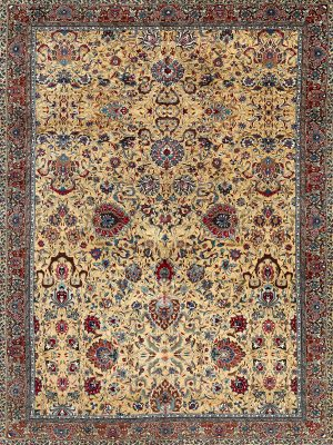 very large over-sized vintage antique rug