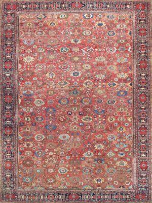 Fereghan Antique rug oversize multi colour