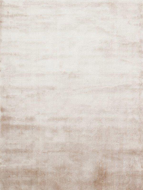 pale beige viscose rug