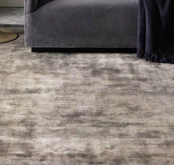 grey art silk rug close up